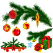 Set of Christmas tree fir branches — Stock Photo