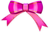Lilac satin gift bow — Stock Photo
