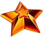 Shiny gold star — Stock Photo