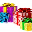 Set of gifts with bows - Stockfoto