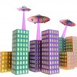 Unidentified flying object - UFO - Stock Photo