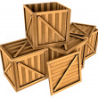 Stock Photo: Wooden boxes