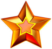 Shiny gold star — Stock Photo