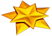 Two shiny gold stars — Stock Photo