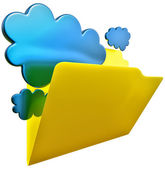 Folder for cloud storage — Stock Photo