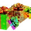Set of gifts with bows - Foto Stock