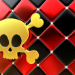 Day of The Dead skull and crossbones as background — Stock Photo