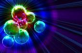 Dark funky background with mirror disco balls — ストック写真
