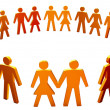 Figures of peoples arranged in the circle - Stock Photo