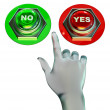 Yes and no buttons set — Stock Photo #17190561