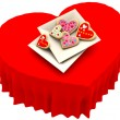 Allsorts heart-shaped cookies for Valentine's Day - Stock Photo