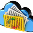 Stock Photo: Cloud computing and storage security concept