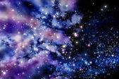 Blue and magenta nebula — Stock Photo
