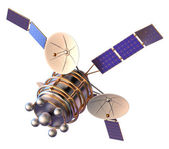 3D model of an artificial satellite of the Earth — Stock Photo