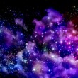 Blue and magenta nebula — Stock Photo