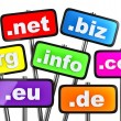 Set of signs with domains as buttons — Stock Photo #49291561
