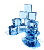 Stylized melting ice cubes — Stock Photo
