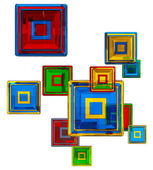 Colorful glass cubes — Stock Photo