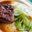 Steak with vegetable — ストック写真