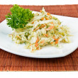 Stock Photo: Cabbage and carrot salad (coleslaw)