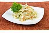 Cabbage and carrot salad (coleslaw) — Stock Photo