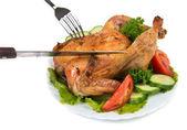 Roasted chiken — Stock Photo