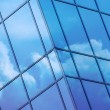 Clouds reflected in windows — Stock Photo