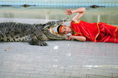 Show of crocodiles — Stock Photo