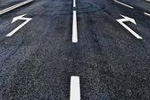 Asphalt road direction — Stock Photo