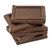 Chocolate bar segments — Stock Photo