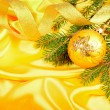 Christmas silk background — Stock Photo