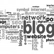 Blog concept word cloud — Stock Photo