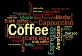 Kawa pojęciowy słowo chmura — Zdjęcie stockowe
