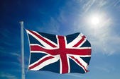 british  flag and pole — Stock Photo