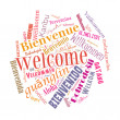 Welcome phrase in  different languages — Stock Photo #44109349