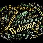 Постер, плакат: Welcome phrase in different languages