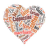 Coffee word cloud collage — Stock Photo