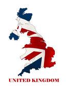 Map of United Kingdom  — Stock Photo