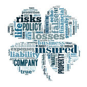 Insurance word cloud  — Stock Photo