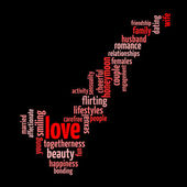 Love concept word tag cloud — Stock Photo