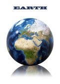 Earth globe map — Stock Photo