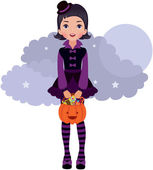 Gothic Lolita Halloween — Stock Vector