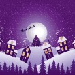 Violet Christmas night — Stock Vector