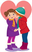 Children in love — Stock Vector