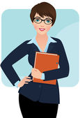 Businesswoman — Stock Vector