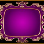 Black background with violet frame with gold(en) pattern — Stock Vector #10370426
