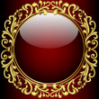 Background with glass ball and gold(en) pattern — Векторная иллюстрация