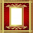 Gold(en) frame with pattern and ray — Stockvektor