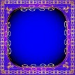 Vintage background frame with gold(en) pattern — Stock Vector
