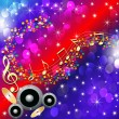 Royalty-Free Stock Vector Image: Music background with speaker and note